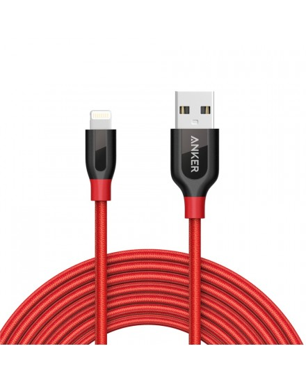 Anker PowerLine+ Lightning Mfi Certified 10ft/3m Red A8123H91