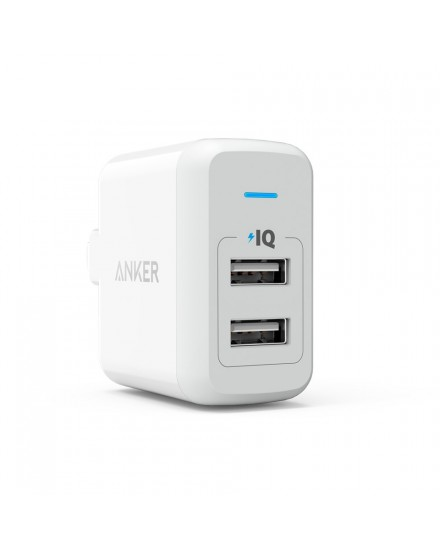 Anker PowerPort 2 24W Foldable White A2141J21