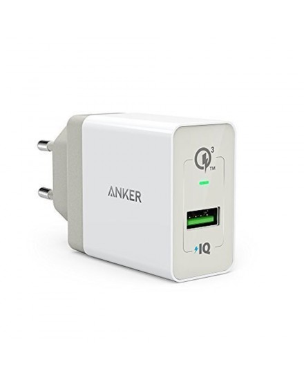 Anker Wall Charger PowerPort+ 1 Quick Charge 3.0 Putih - A2013L21