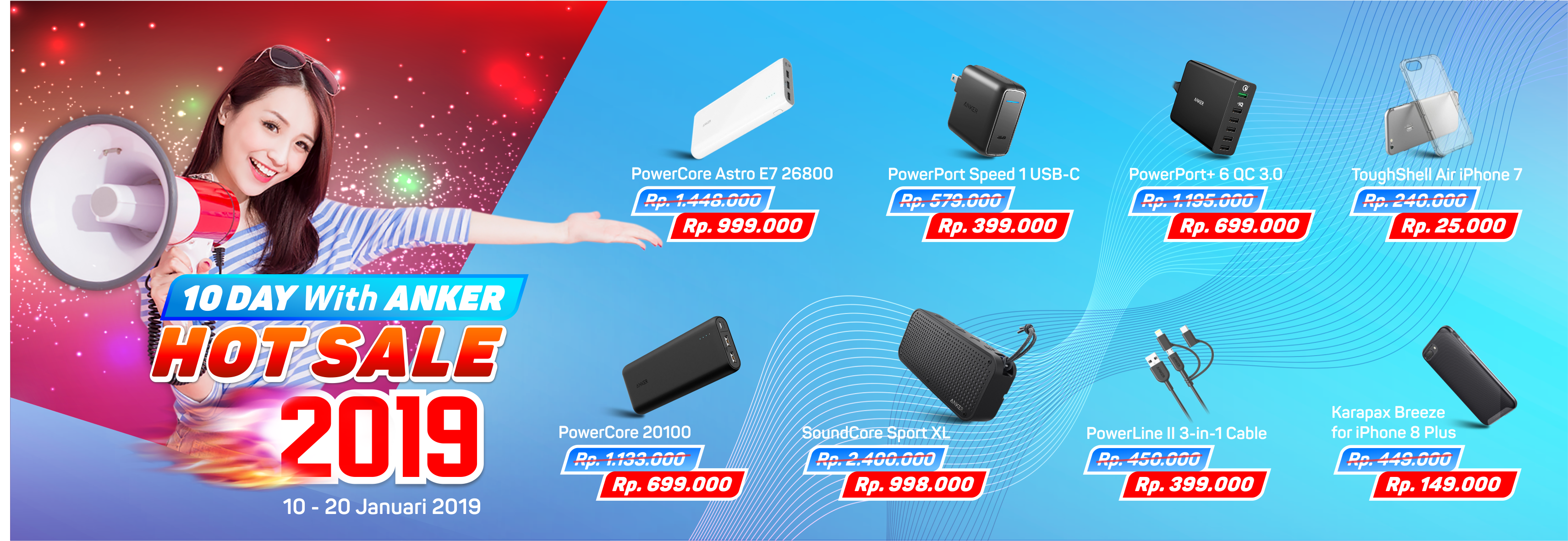 10 DAY WITH ANKER HOT SALE 2019