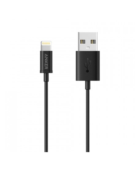 Anker Premium MFI Lightning Cable 0.9m iPhone Black A7101H12