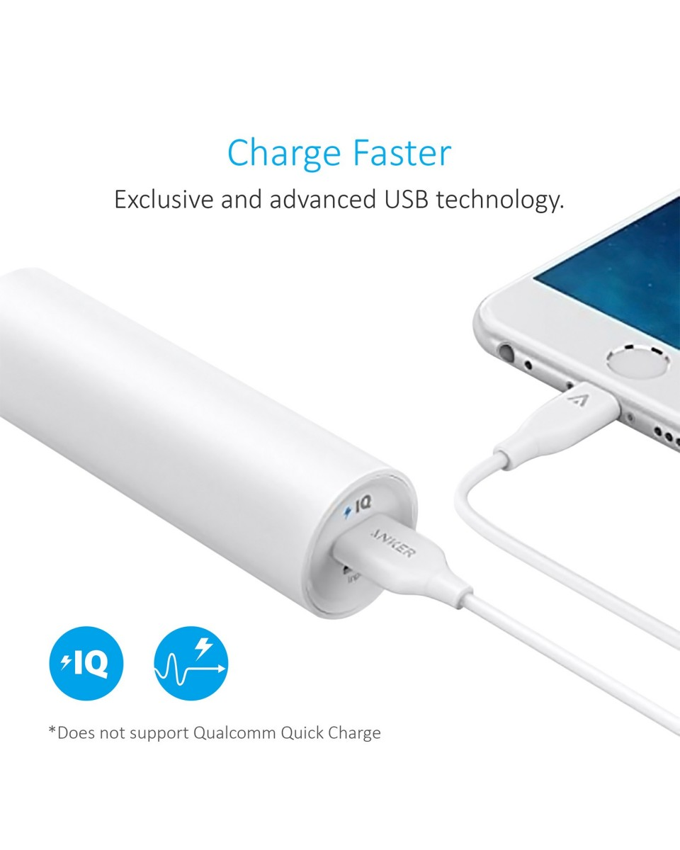 Powerbank Anker PowerCore 5000mAh UN White A1109G21