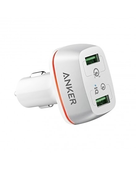 Anker PowerDrive+ 2 Quick Charge 3.0 White A2224H21