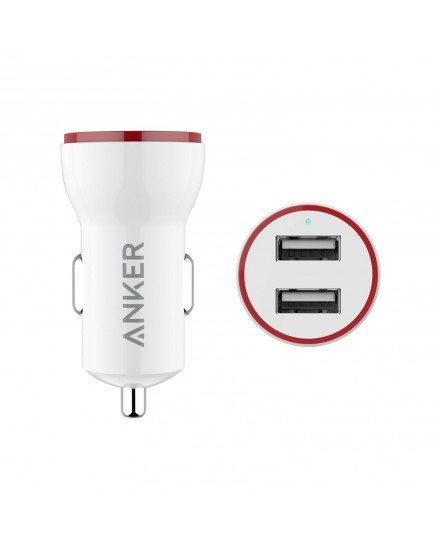 Anker PowerDrive 2 Dual Port Car Charger White A2310H21