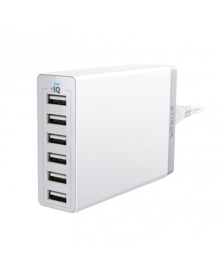 Anker PowerPort 6 USB Charger 6 Port White A2123L22