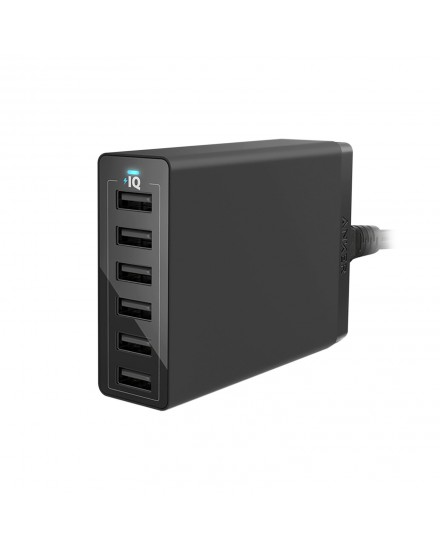 Anker PowerPort 6 USB Charger 6 Port Black A2123L12