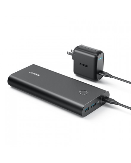 Anker PowerCore+ 26800 with USB-C PD Portable Charger Black & 30W PD charger US B1375