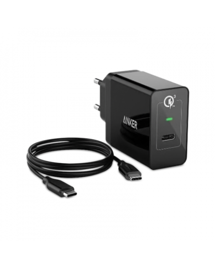 Anker Wall Charger PowerPort 1 USB-C Quick Charge 3.0 Hitam A2012311