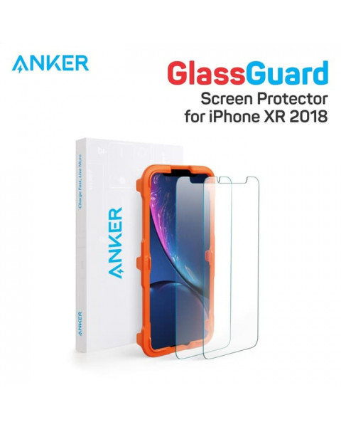 Anker GlassGuard Screen Protector for iPhone XR/iPhone 6.1inch - 2pcs