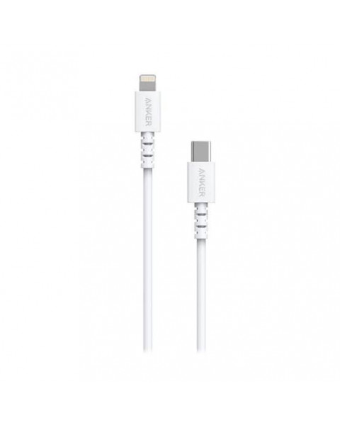 Anker PowerLine Select USB-C Cable with Lightning connector 3ft White A8612H21