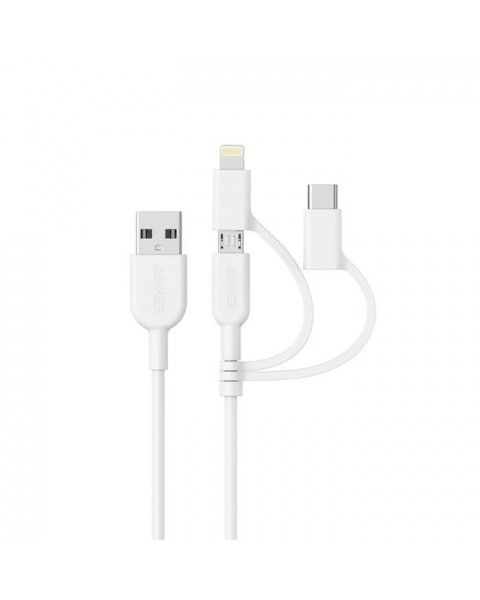 Anker Powerline II - 3 in 1 Cable A8436 - White