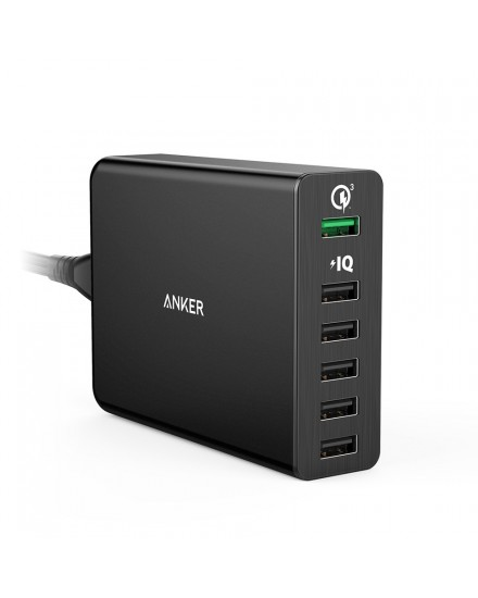 Anker PowerPort+ 6 Quick Charge 3.0 - Black A2063L11