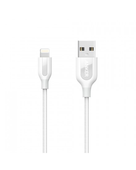 Anker PowerLine+ Lightning Mfi Certified 3ft/0.9m - A8121H21 White